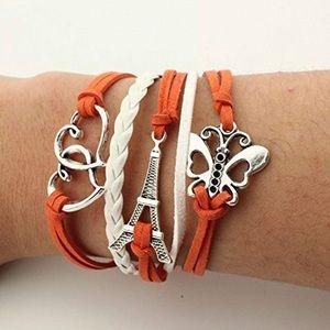 Jewelry - Multi layer leather Infinity Bracelet